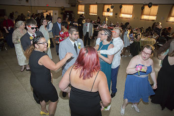Prom Attendees Dancing